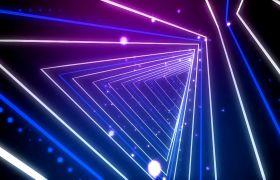 舞台背景-动感空间三角形炫彩灯光背景舞台视频素材