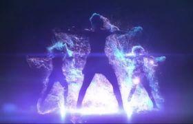 晚會素材-動感旋律音樂舞蹈人影跳動舞臺背景視頻素材