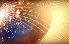 舞臺素材-炫酷光線火花噴射金色粒子視頻背景素材
