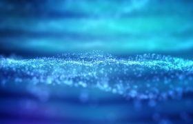 舞臺素材-創新藍色科技粒子撞擊地面背景舞臺視頻素材