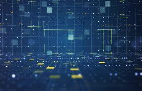 科技素材-震撼蓝色科技既视感动感空间背景视频素材