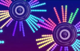 背景素材-酷炫動感閃耀圓圈光波波紋舞臺背景視頻素材