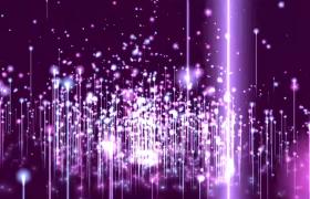 背景素材-唯美紫色炫酷震撼大氣時尚粒子背景視頻素材