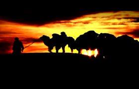 自然风光-一带一路沙漠丝绸之路宣传片讲解视频素材