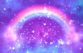 婚礼素材-梦幻气泡彩虹门浪漫婚礼庆典背景视频素材