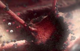 醫學素材-高清視頻DNA細胞癌癥吞噬全過程醫學宣傳片頭