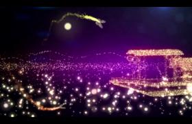 舞台素材-唯美浪漫似水流年粒子小船蝴蝶背景视频素材