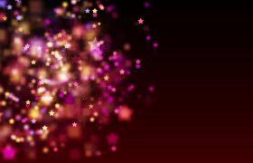 婚禮素材-閃耀彩色星星動態背景婚宴背景視頻素材