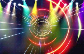 光線素材-七彩絢麗光線閃爍動感演出晚會視頻背景