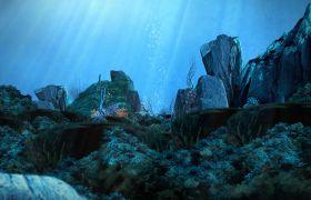 自然風光-夢幻海底世界珊瑚海洋景觀視頻背景素材
