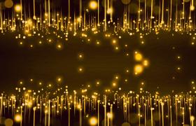 晚會素材-高端華麗金色粒子光線晚會舞臺背景視頻素材