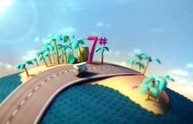 倒計時素材-創意汽車到場10秒倒計時動畫視頻背景素材