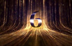 倒計時素材-炫酷金色粒子年終企業晚會慶典10秒倒計時素材