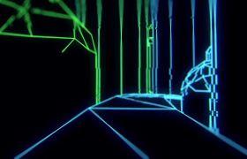 動感線條-動感城市構建光線LED快節奏音樂舞臺視頻