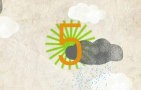 倒計時素材-創意趣味線性動畫10秒演出倒計時視頻素材