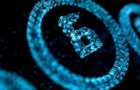 倒計時素材-藍色磚石圓圈10秒倒計時橫版高清視頻素材