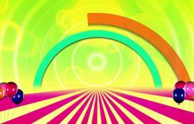 儿童素材-欢乐儿童彩虹桥动画演出舞台背景视频素材