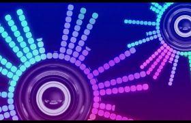 舞臺素材-彩色轉動喇叭動感大屏幕背景素材視頻