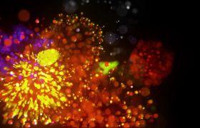 节日素材-喜庆庆典过年节日动态唯美的礼花烟花视频素材