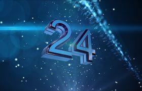倒計時素材-震撼藍色粒子爆炸30秒倒計時背景視頻素材