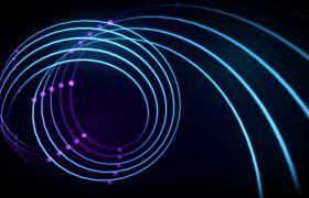 舞臺素材-動感紫色線條絲綢飄逸舞臺VJ背景視頻
