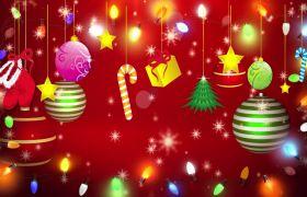 节日素材-喜庆圣诞礼物雪花飘舞圣诞快乐视频背景素材