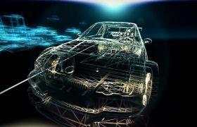 交通宣傳-震撼3D科技汽車展示車展宣傳視頻素材