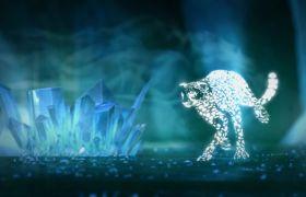 开场视频-炫酷斑点豹子迅捷奔跑开场企业视频素材