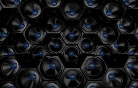酒吧素材-时尚大屏幕动感喇叭VJ酒吧舞台视频背景素材