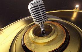 舞臺素材-3D音樂元素震撼大氣炫酷企業宣傳片頭視頻