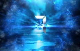倒計時素材-炫酷震撼藍色沖擊波10秒開場倒計時視頻素材
