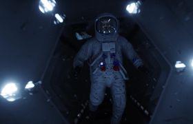 星空素材-科技星空宇宙航空站未來場景視頻素材
