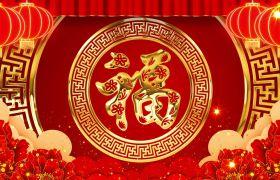 节日素材-典美动感灯笼喜庆新春祝福视频背景素材