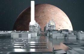 未來建筑素材-創意炫酷科技概念城市建筑三維動態視頻展示素材