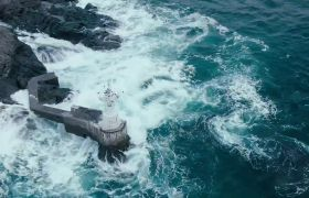自然風光-高清實拍海邊景象大海波濤洶涌視頻背景素材