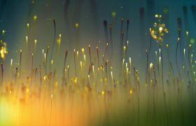 舞台素材-文艺动感黄色粒子led灯光视频背景素材