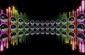 酒吧素材-动感炫酷霓虹灯音响动感酒吧视频背景素材