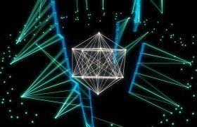 舞台素材-水晶动感折线图案超炫灯光视频舞台背景素材