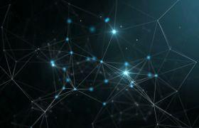 科技素材-動感藍色折線空間科技企業宣傳合成視頻素材