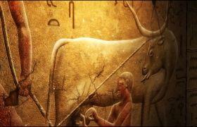 舞臺素材-古典神秘古埃及異域風情元素展示舞臺背景視頻