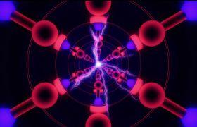酒吧素材-动感闪电酒吧舞台灯光炫酷动态视频背景素材