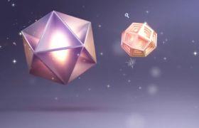 舞台素材-绚丽五彩水晶动感创意展示舞台背景视频