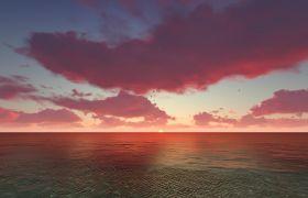 自然風光-秋水海天藍天白云蔚藍視頻舞臺自然風光視頻
