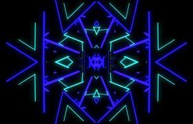 酒吧素材-唯美蓝色变幻粒子花灯酒吧舞台视频素材