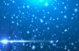 晚会素材-唯美蓝色星空粒子晚会背景led视频素材