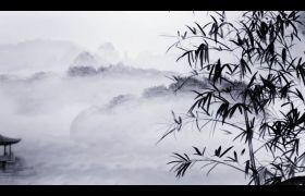 舞台素材-经典梅兰竹菊四君子水墨中国画视频背景素材