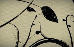 舞台素材-卡通文艺花藤生长励志舞台背景晚会视频素材