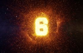 倒計時素材-唯美金色粒子企業年會10秒倒計開場視頻素材