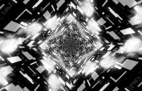 酒吧素材-闪耀酷炫隧道灯光酒吧动感循环背景视频素材