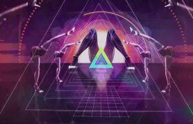 酒吧素材-震撼紫色光芒VJ酒吧创意动感视频背景素材